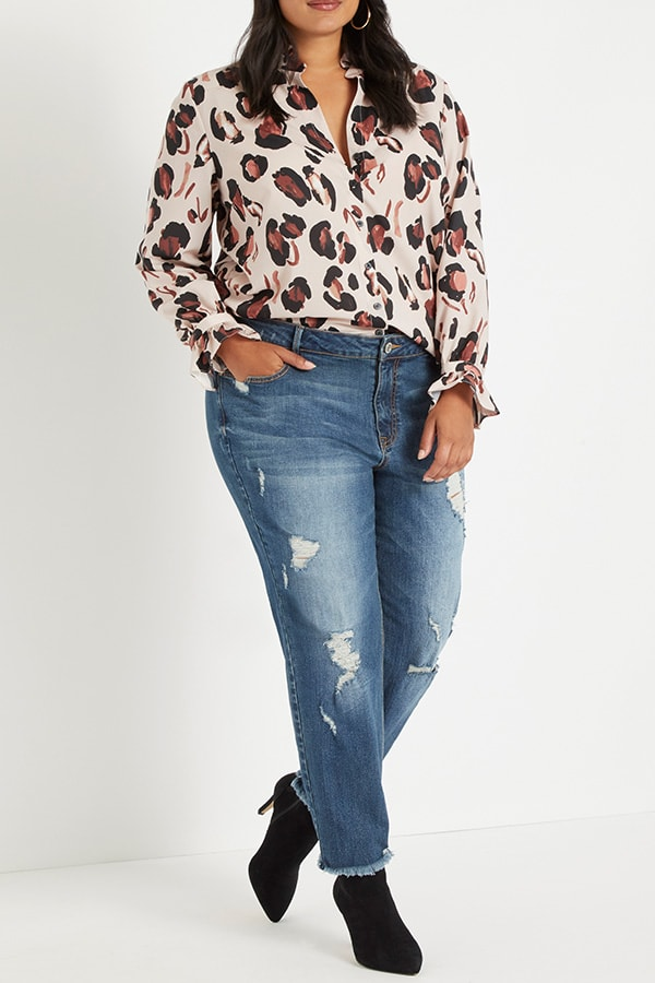 Printed blouse from Eloquii Walmart collection