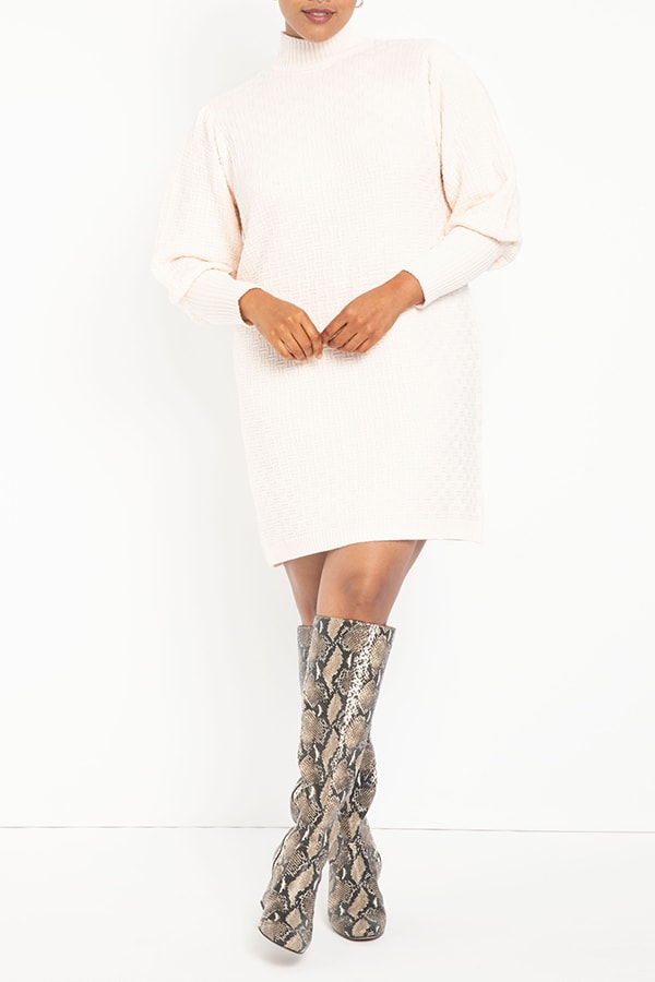 Sweater dress from Eloquii Walmart collection