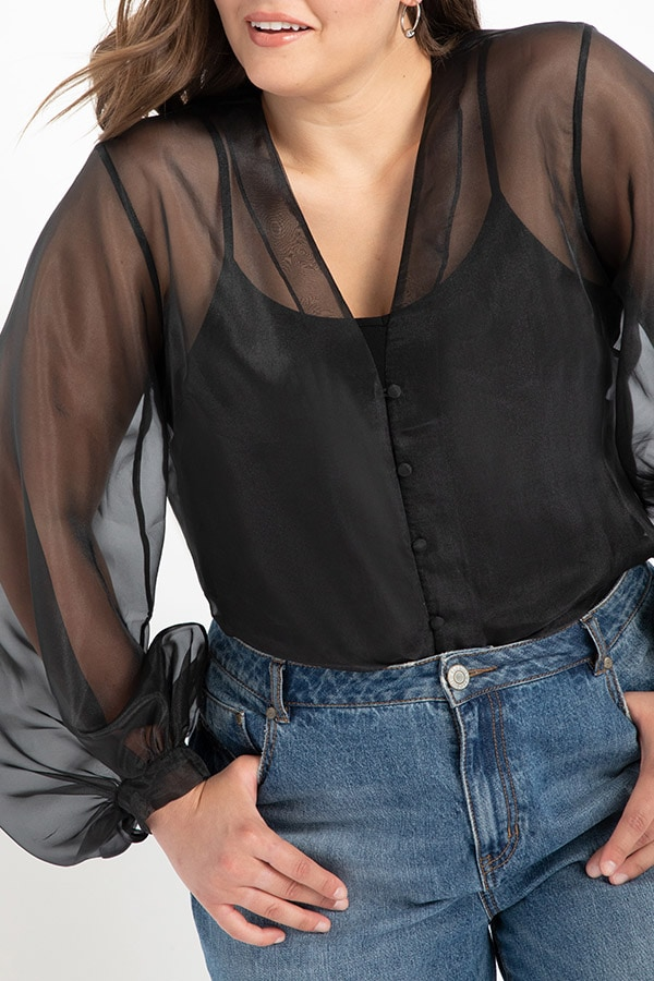 Organza blouse from Eloquii Walmart