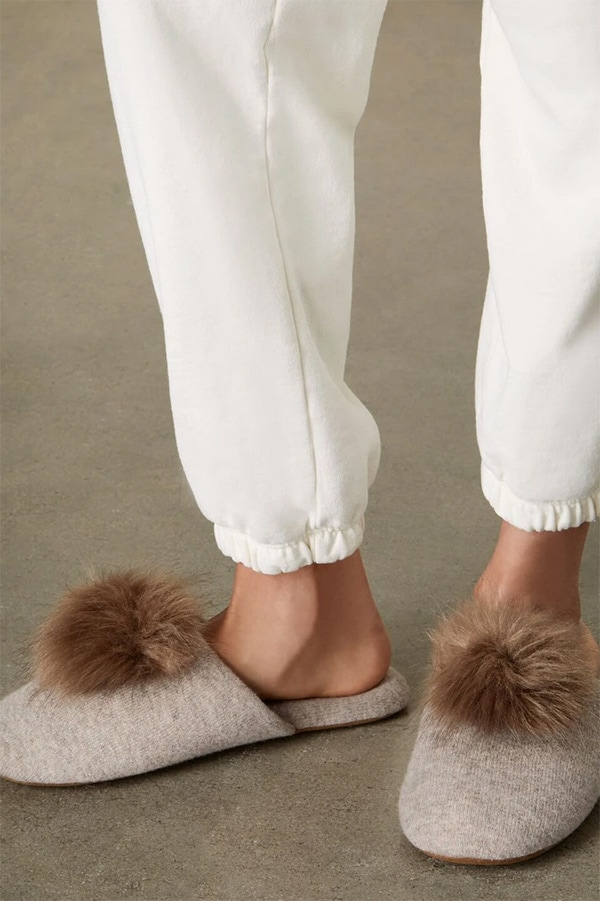 Cashmere slippers from Italic