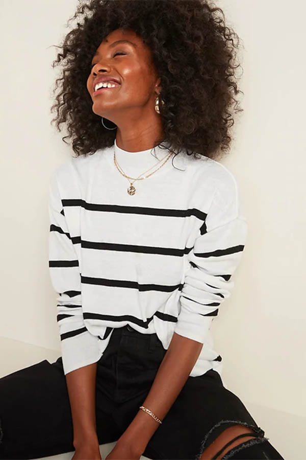 Striped sweater from Old Navy