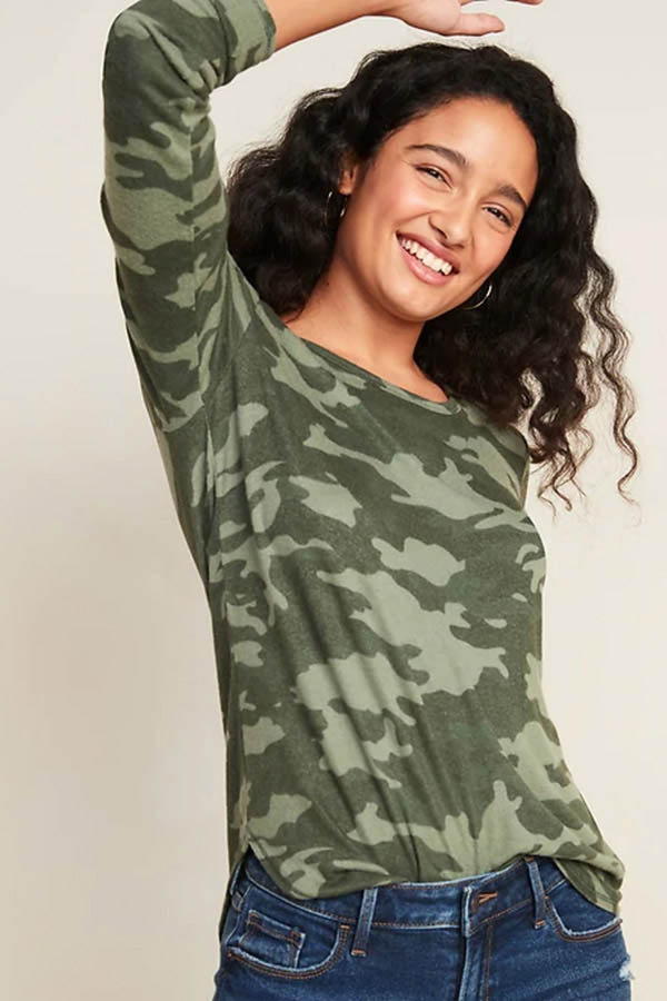 Camo top from Old Navy Sale