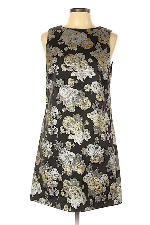 Short dress with foiled floral design