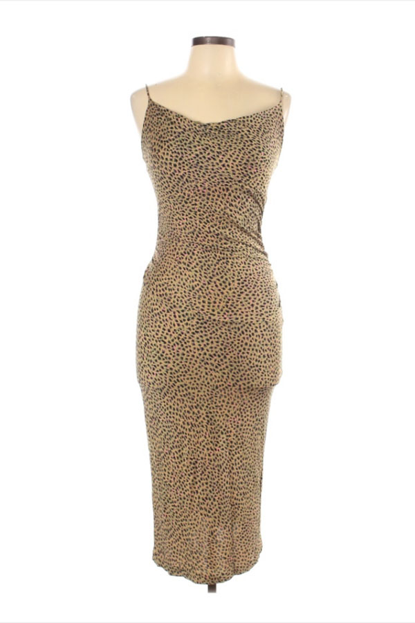 Slinky leopard dress by Diana von Furstenberg