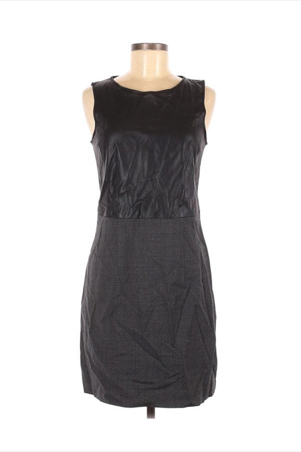Mixed media black holiday dress