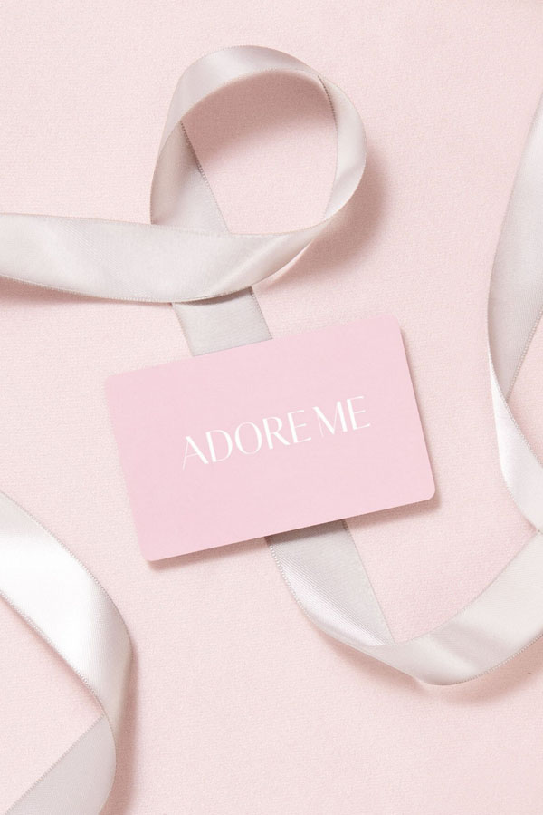 AdoreMe gift card for the practical gift of underwear