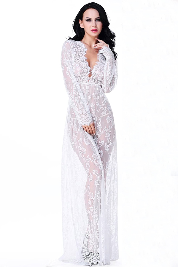 White lace nightgown