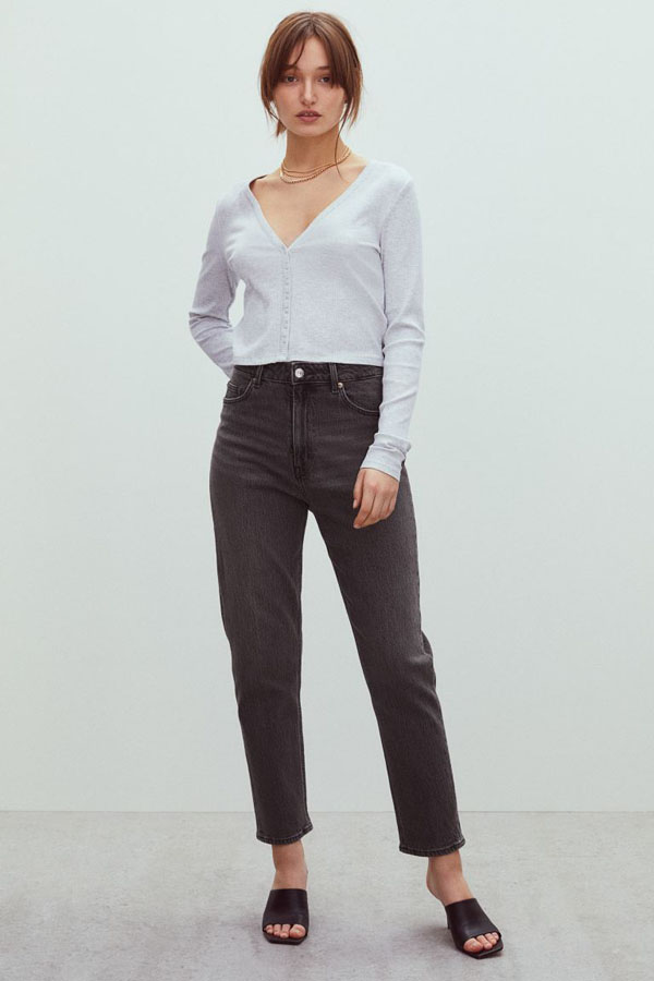 Slim mom jeans from H&M new arrivals