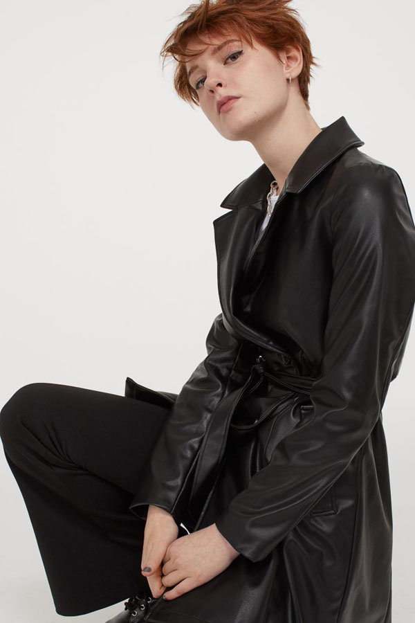 Faux leather trenchcoat from H&M new arrivals collection