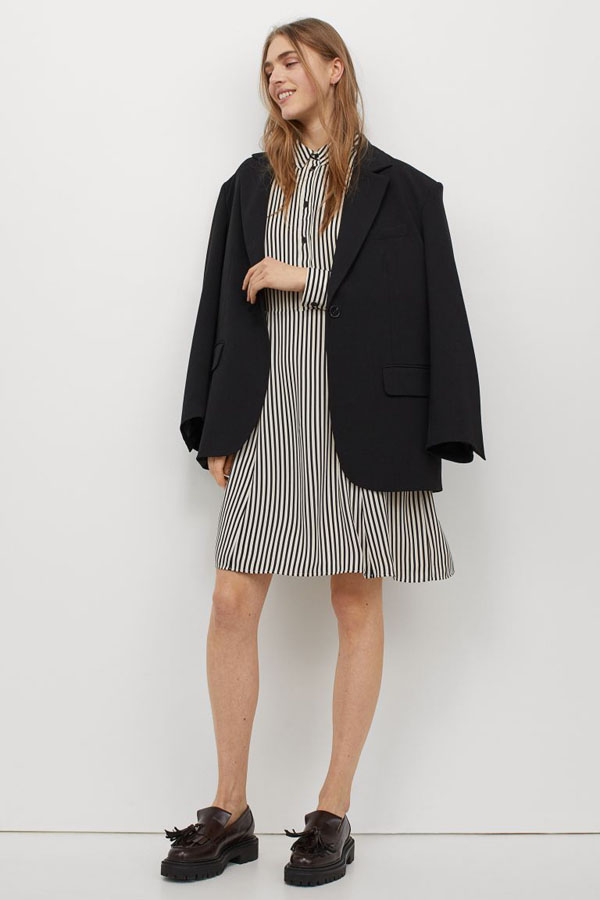 Shirt dress from H&M new arrivals collection
