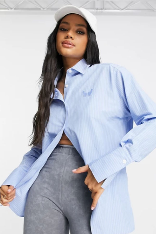 Oversized top with pinstripes from Asos.