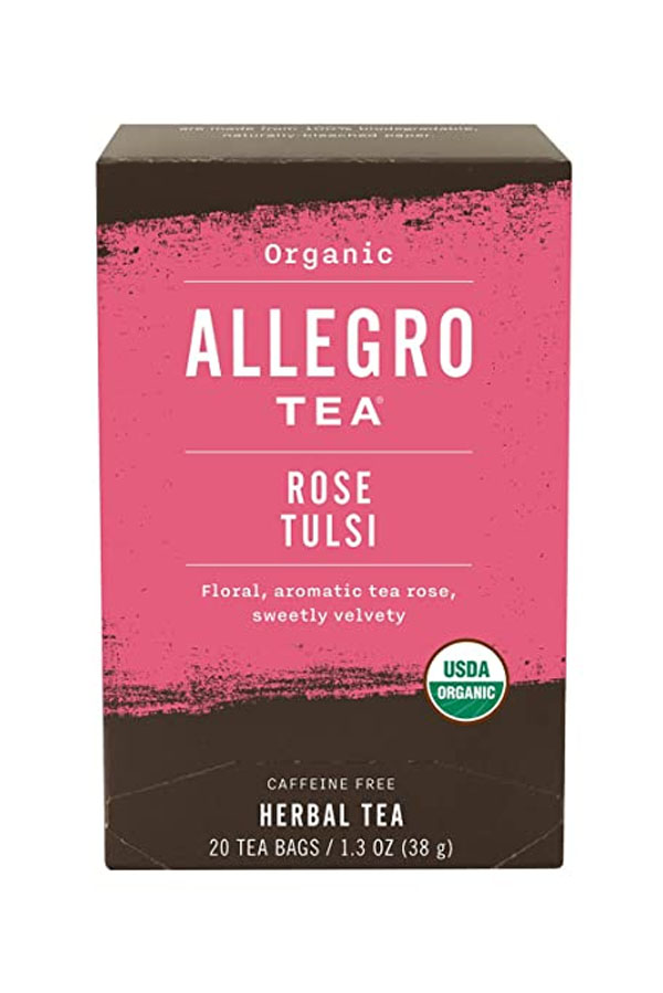 Rose tea as a gift for Valentine's Day