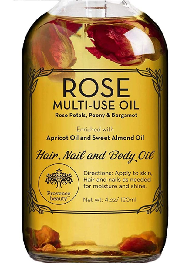 Rose oil for hair, skin, and nails