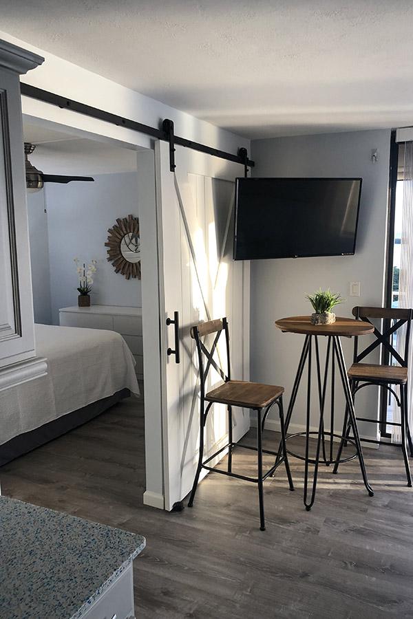 Minimalist apartment decor.