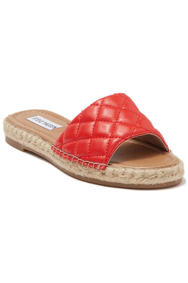 Steve Madden espadrille slide sandal.