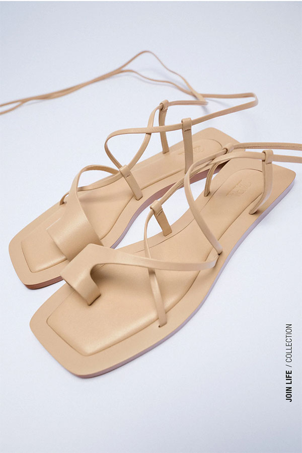 Strappy sandals for summer from Zara.